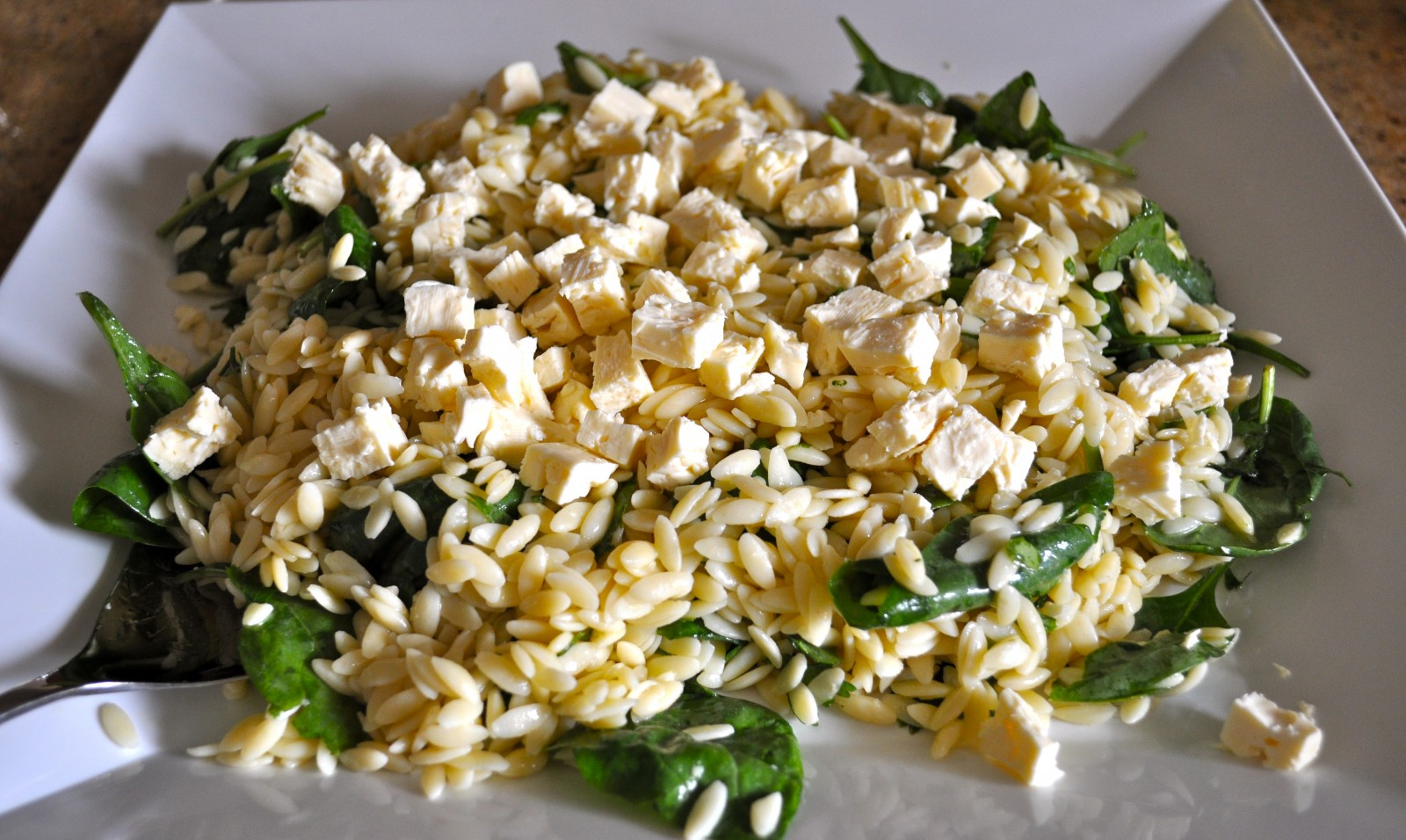 Lemon and feta risoni salad