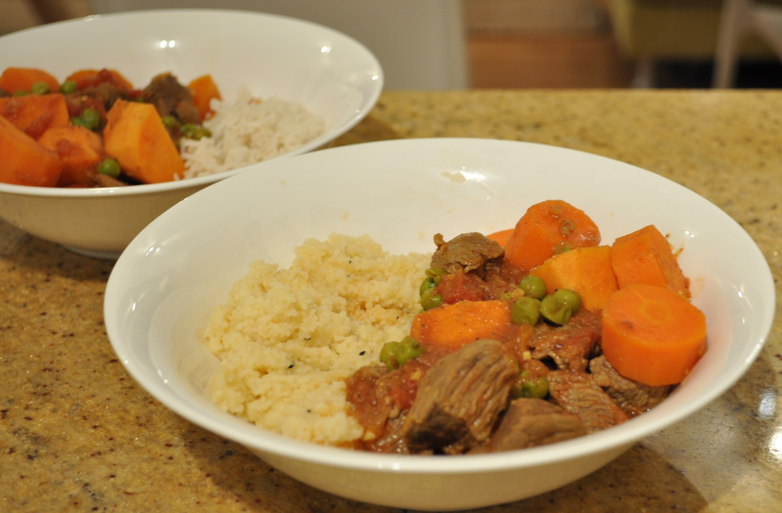 Lamb and sweet potato tagine