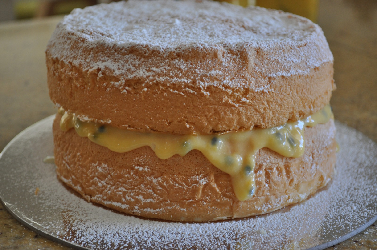 Passionfruit sponge cake