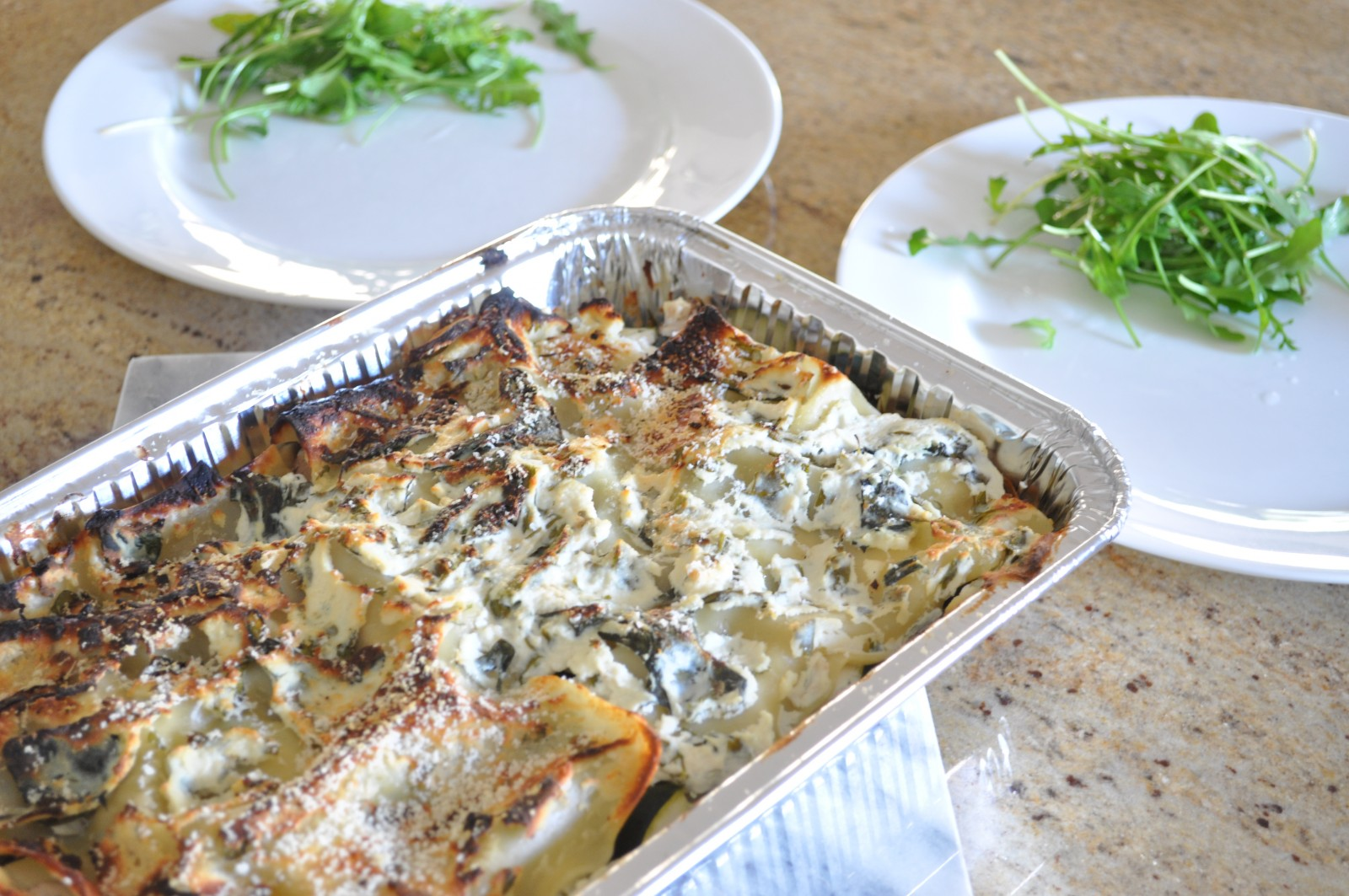 Ricotta and vegetable lasagna