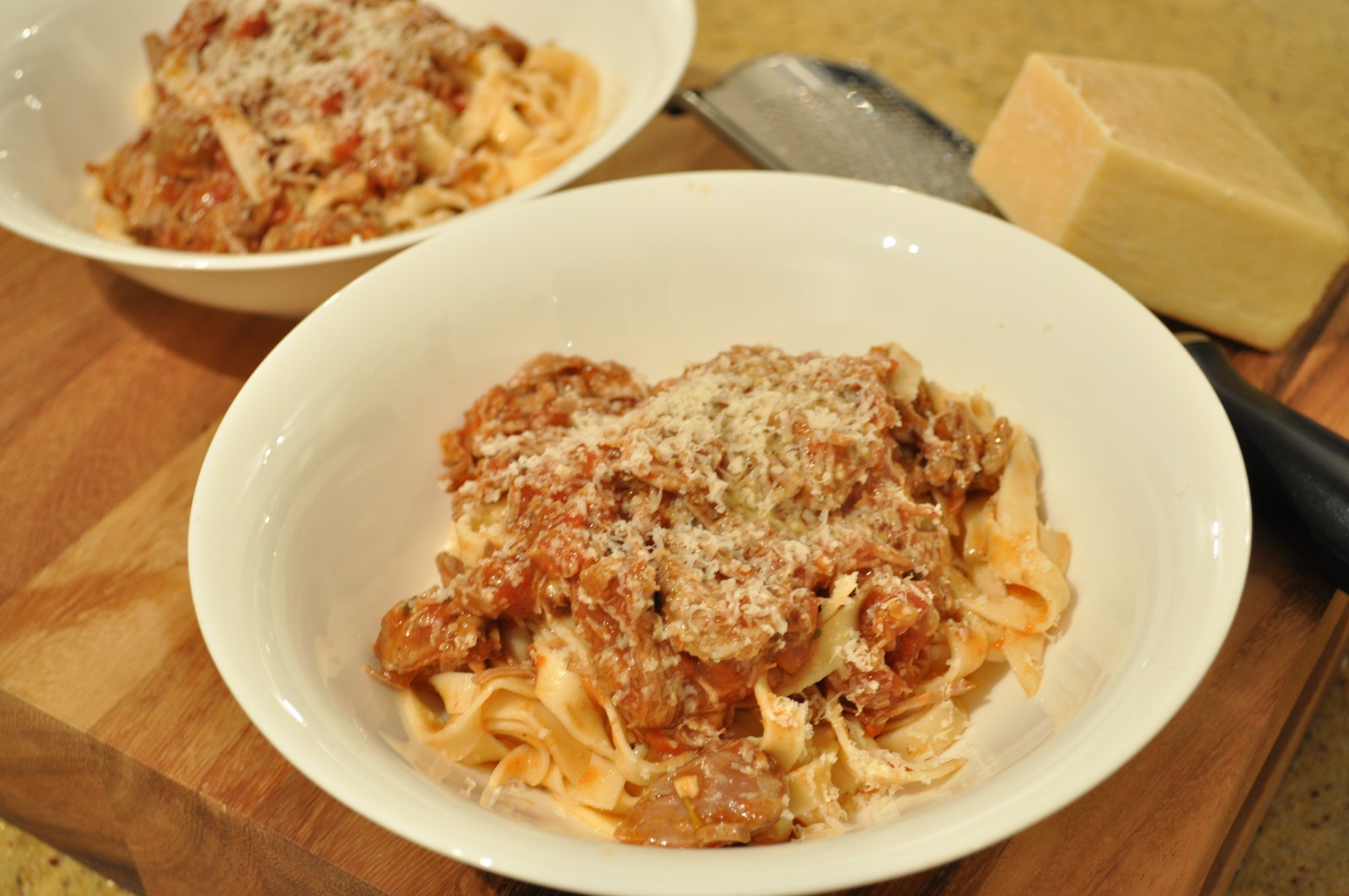 Lamb ragu on homemade pasta