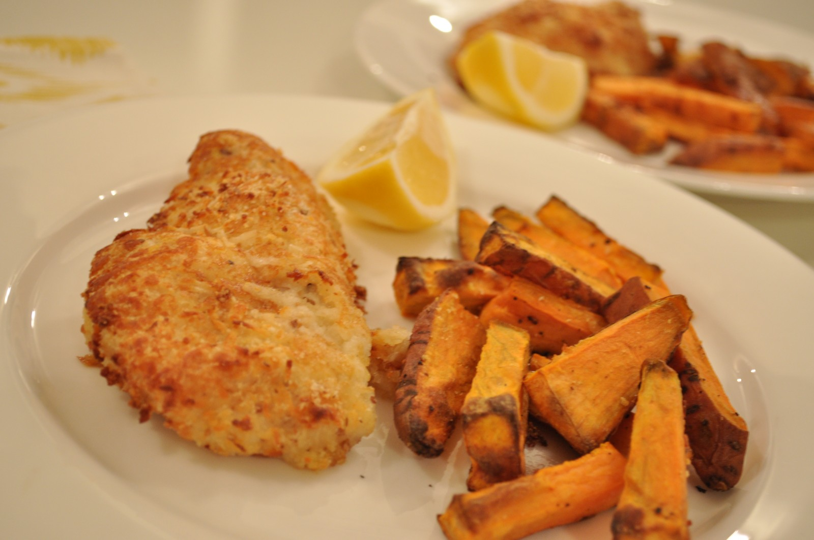 Halloumi-crumbed chicken breast