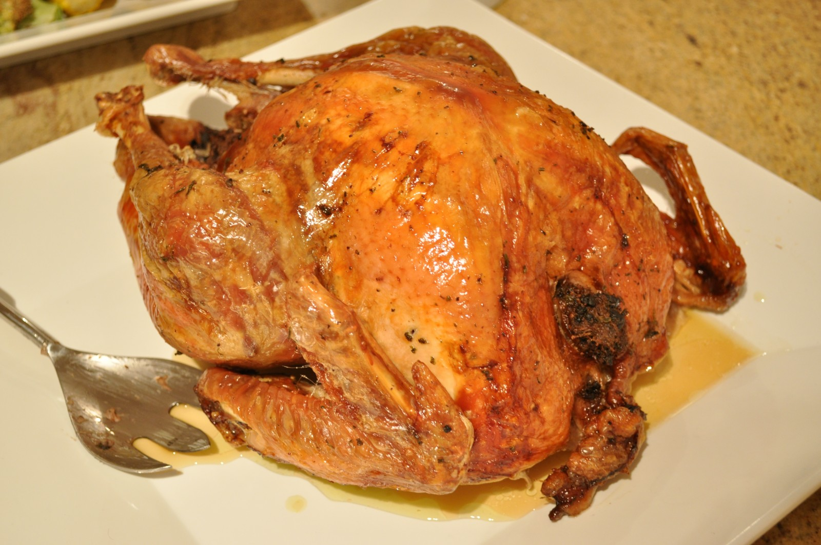 Turkey with mushroom and walnut stuffing