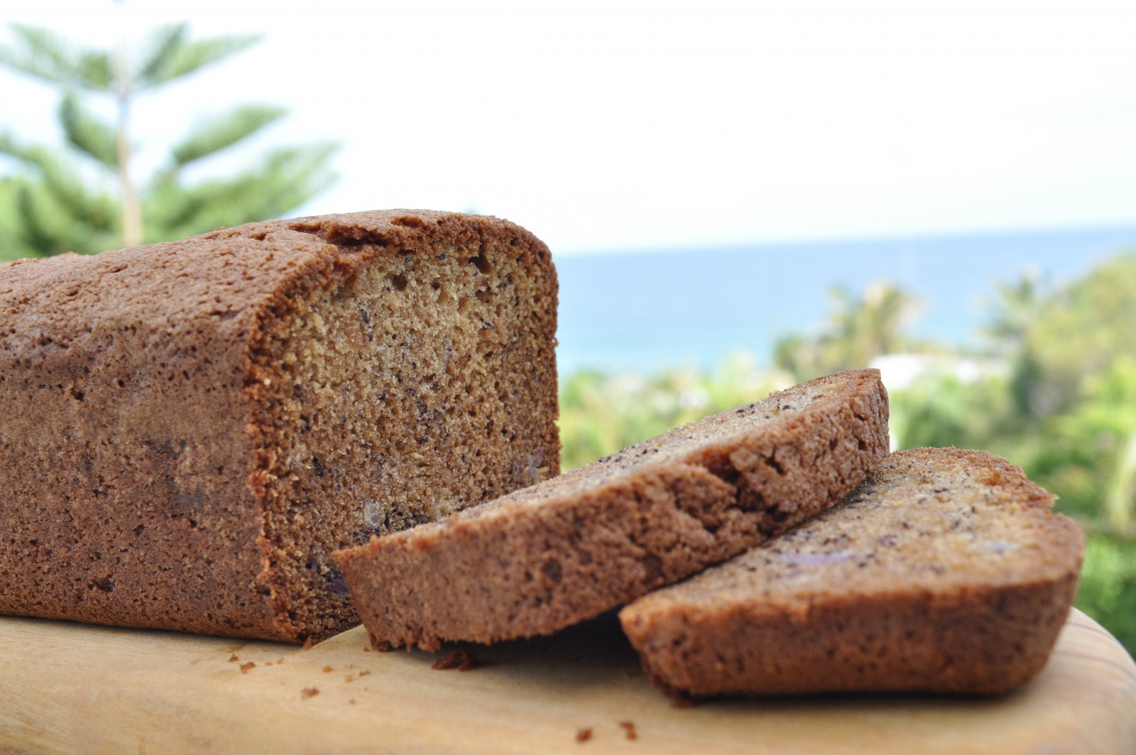 Banana bread by the beach