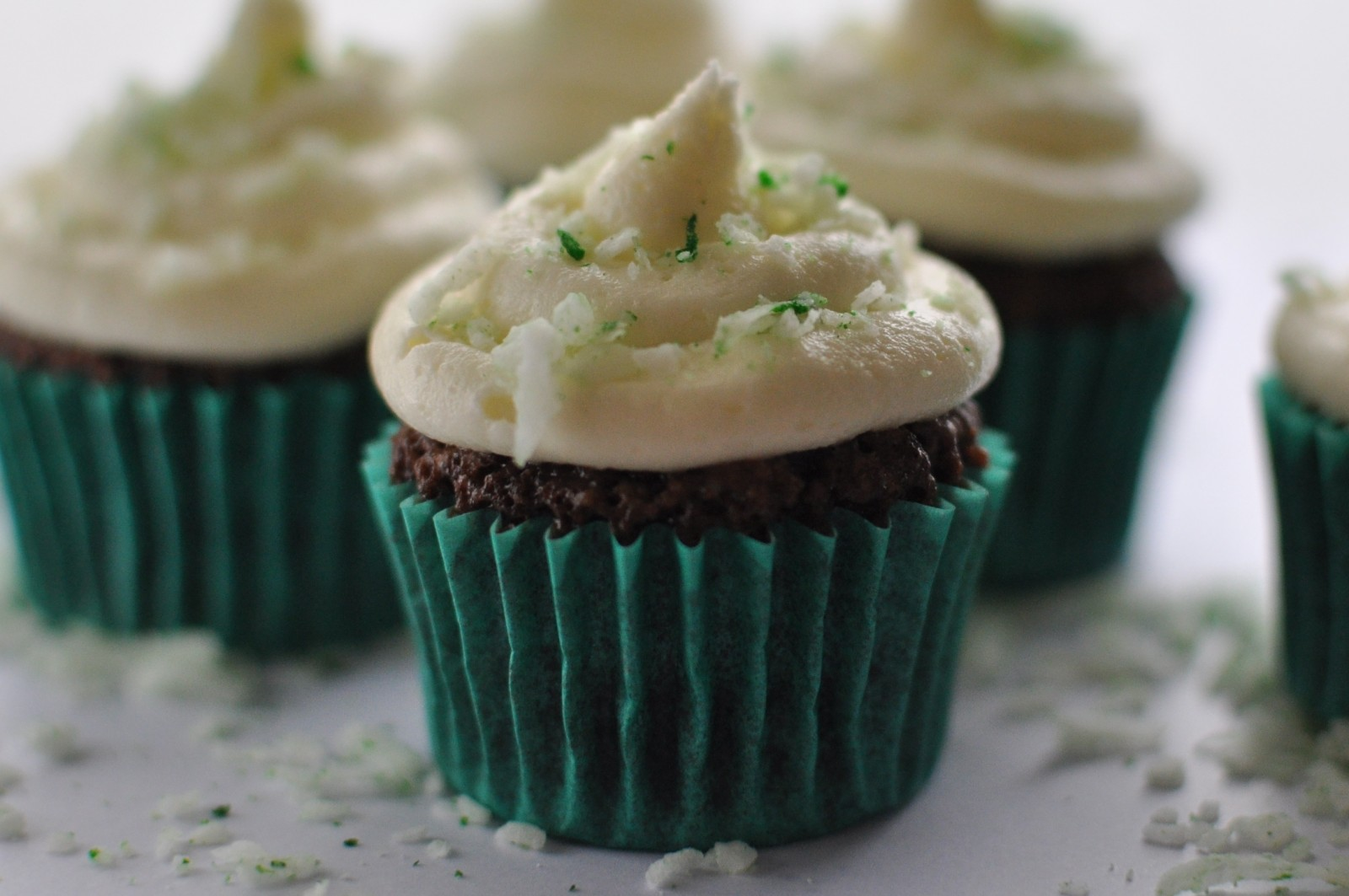 Choc-mint coconut cupcakes – Happy St Patrick's Day