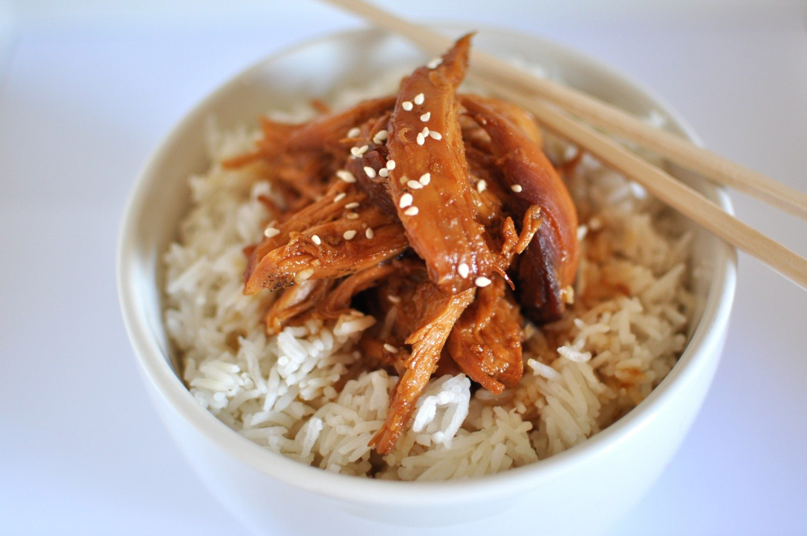 Chicken teriyaki in the slow cooker