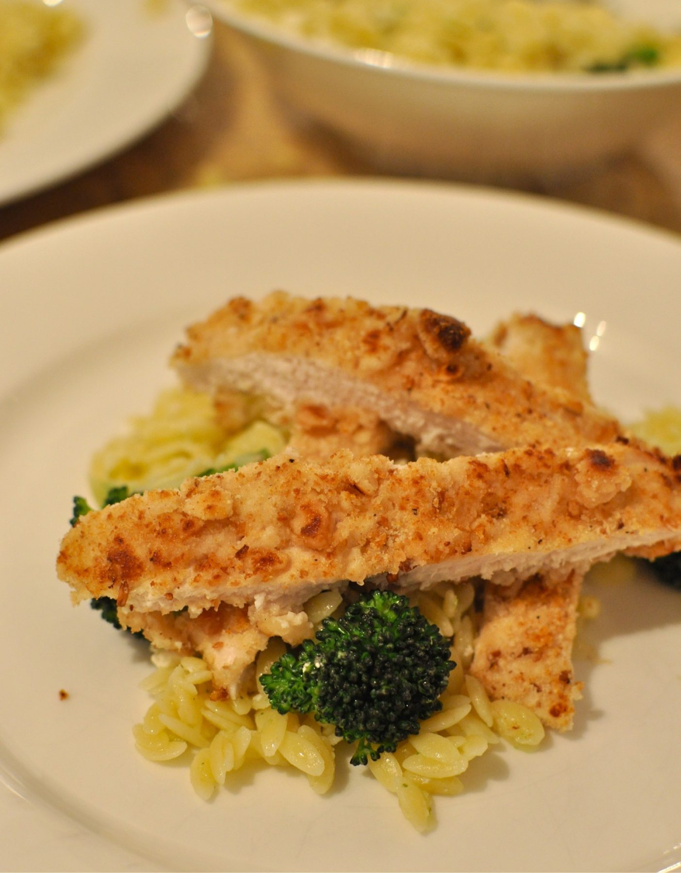 Macadamia crumbed chicken