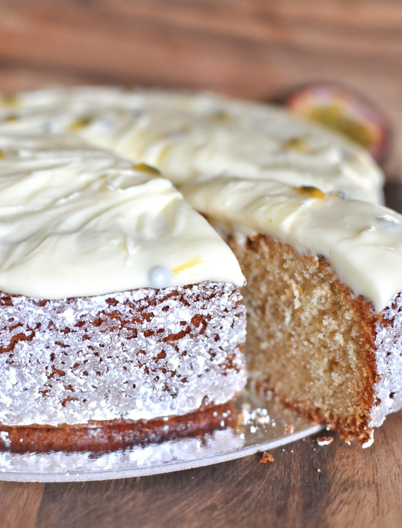 Passionberry pound cake