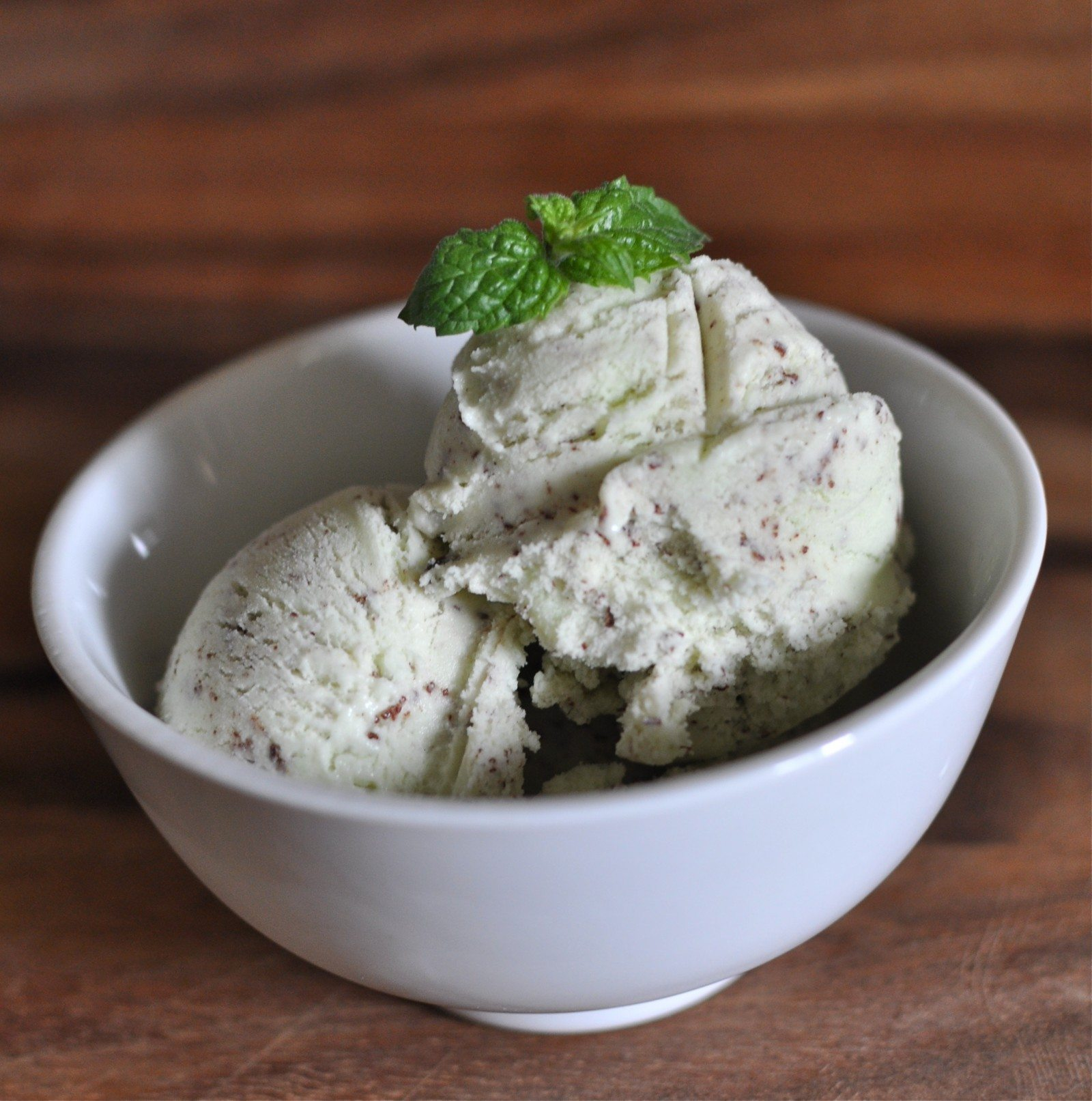 Mint chocolate chip gelato
