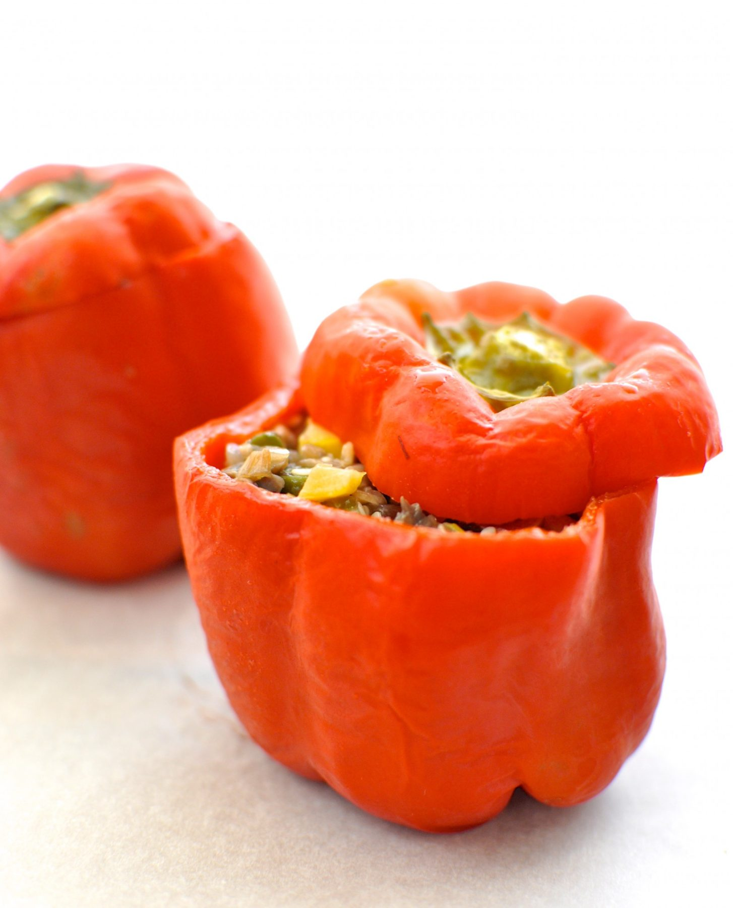 Asian style stuffed capsicum