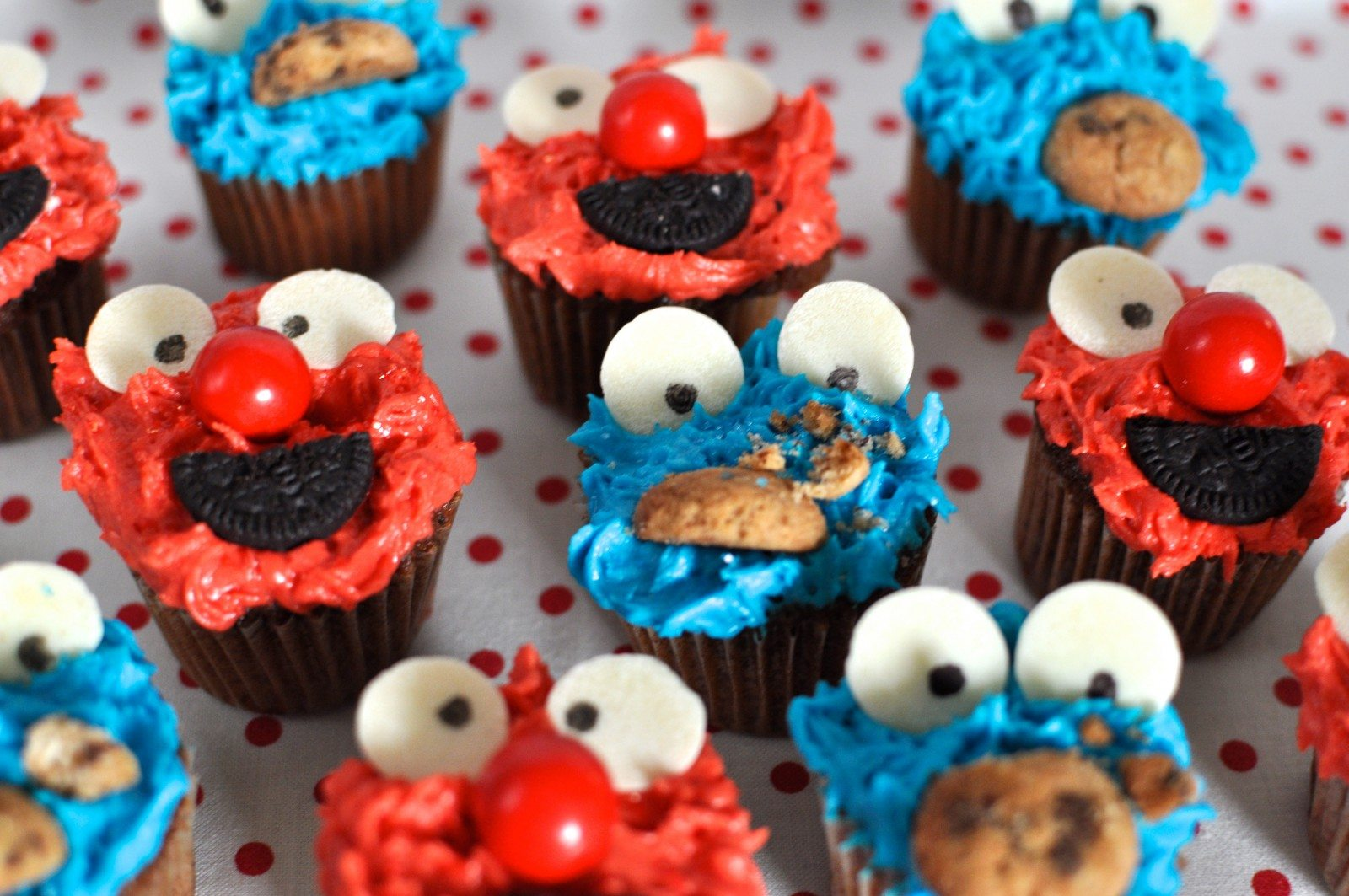 Sesame street cupcakes