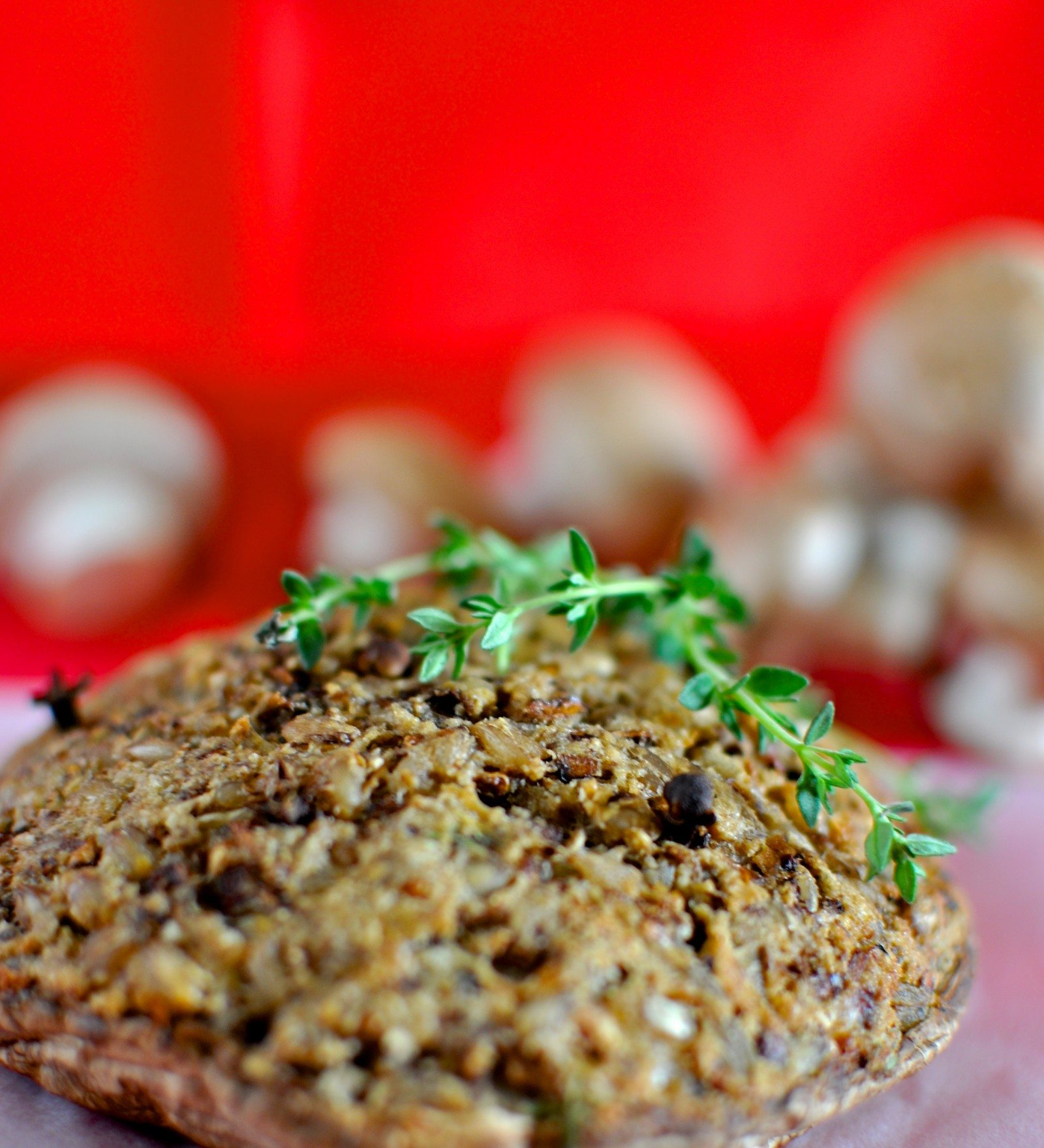 Christmas stuffed mushrooms