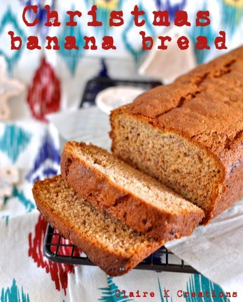 Christmas banana bread