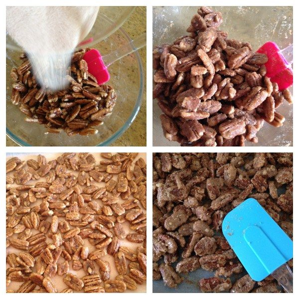 Making cinnamon roasted pecans