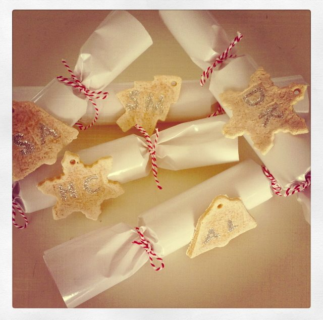 Homemade Christmas crackers