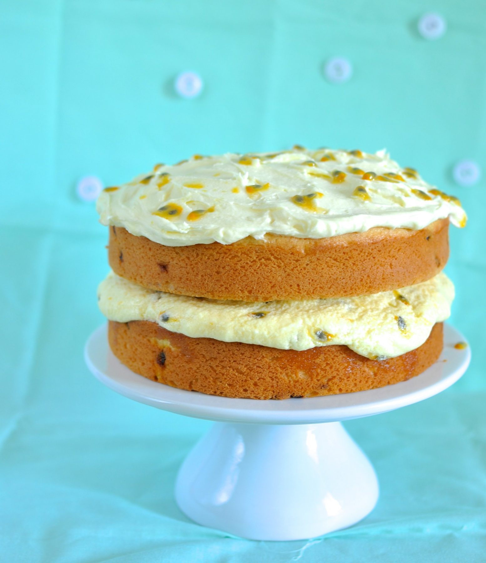 Coconut passionfruit cake