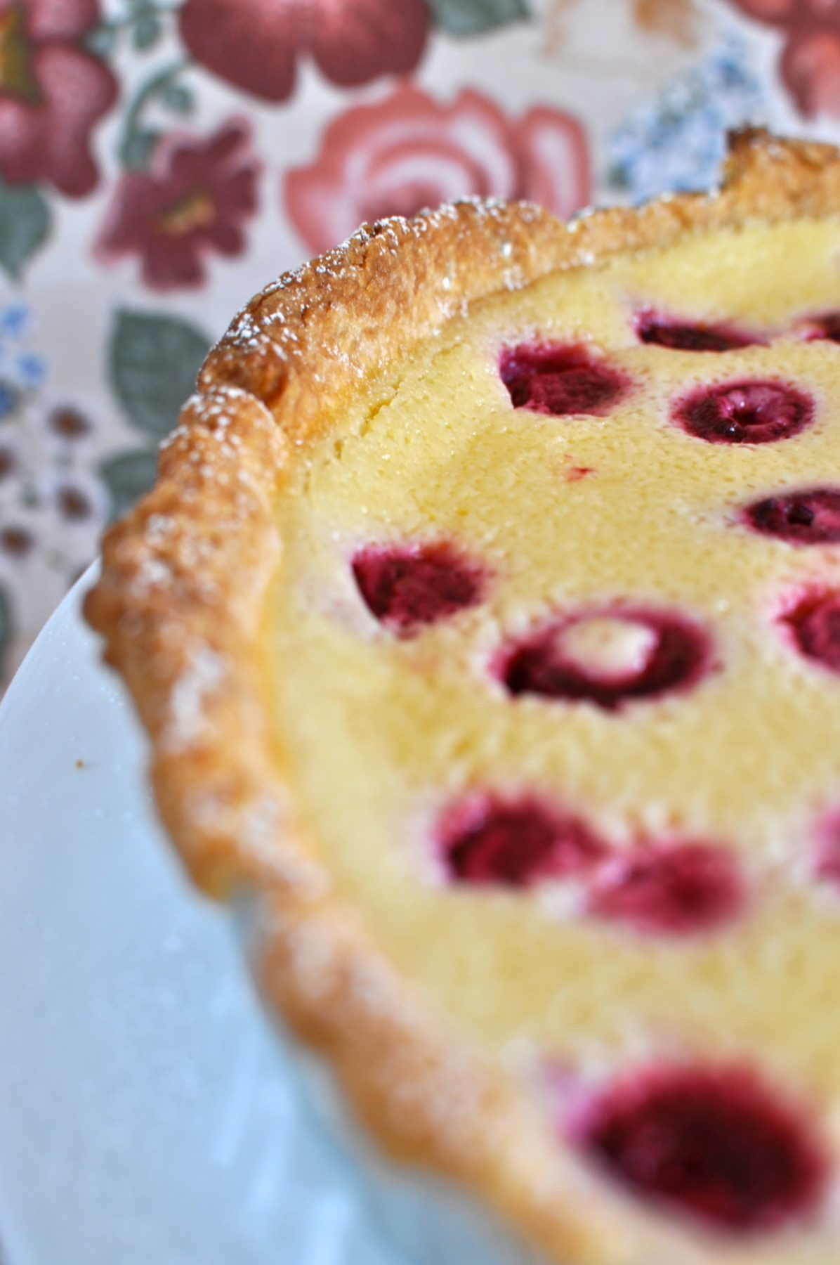 Raspberry and lemon buttermilk tart