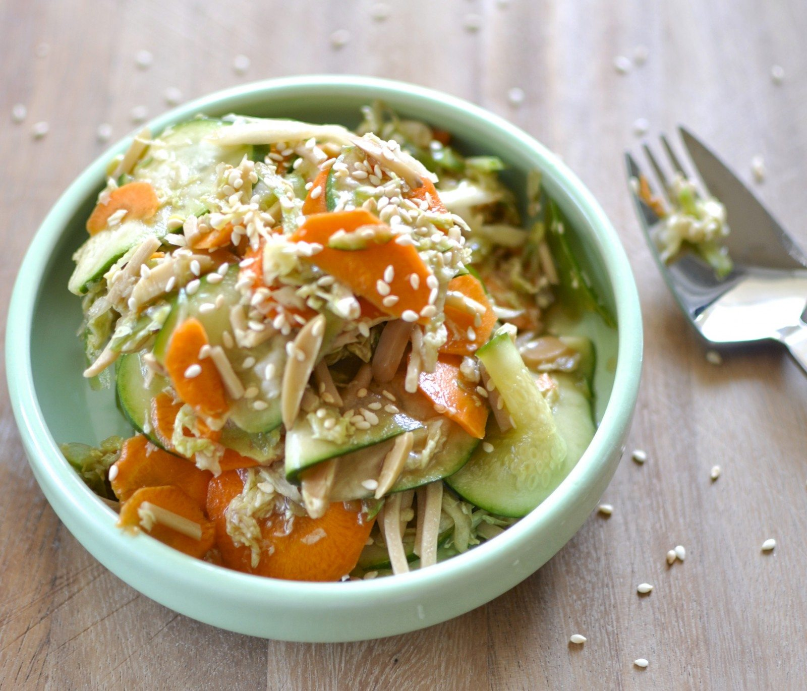Crunchy Asian vegetable salad via Claire K Creations www ...
