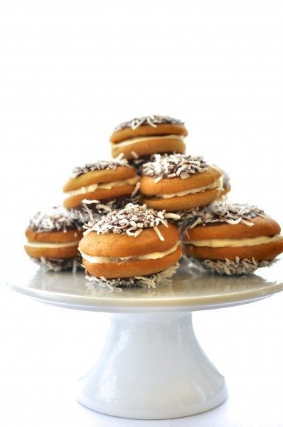 Lamington whoopie pies
