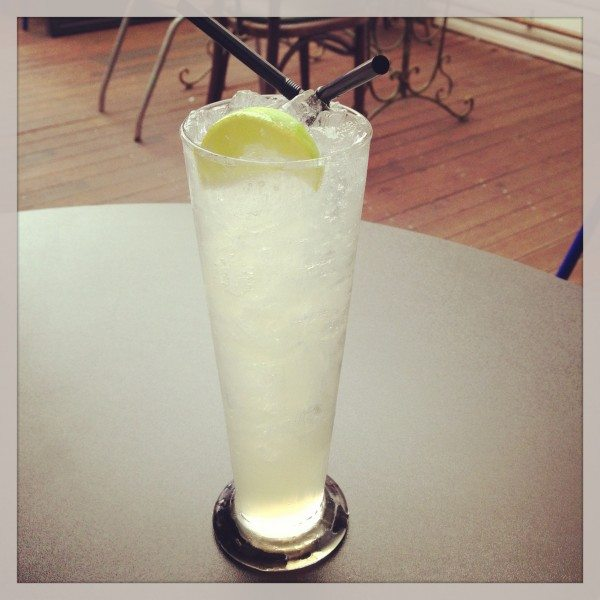 Light &amp; cloudy - Vodka, house made ginger syrup &amp; lime, topped w/ soda