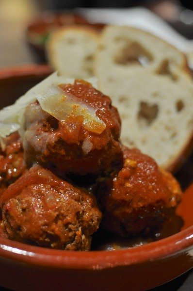 Albondigas - beef and chorizo meatballs served with sourdough