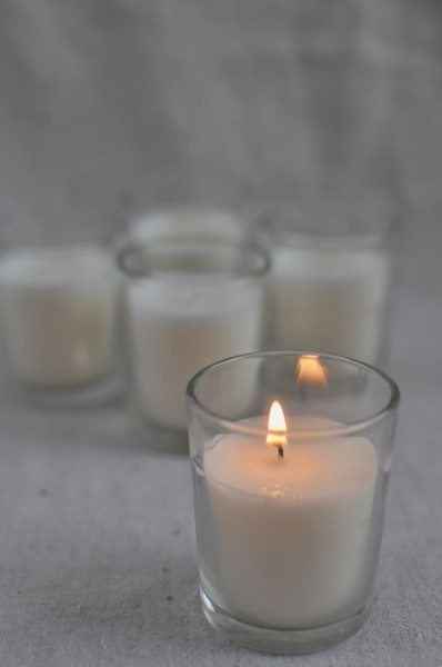 Homemade soy candles