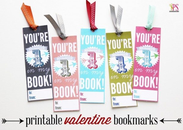 Printable Valentine's Bookmarks