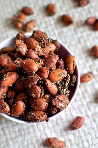Almond and chia clusters