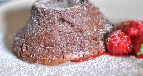Gluten-free chocolate fondant