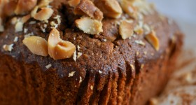 Coffee and macadamia loaf cake