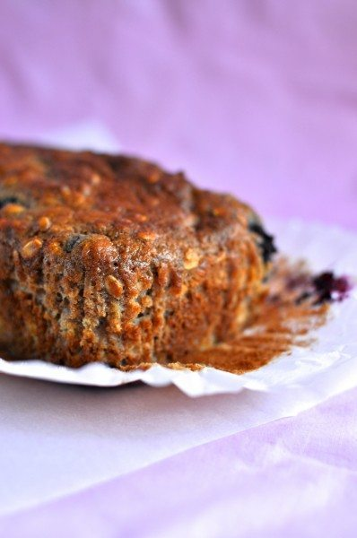 Low calorie blueberry banana bread