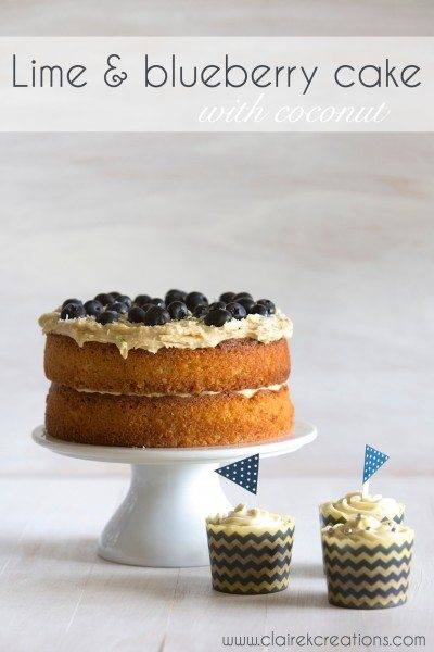 Gluten free lime and blueberry cake with coconut via www ...